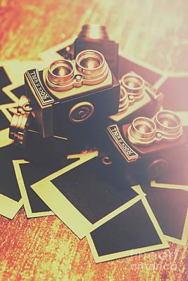Retro Twin Lens Reflex Cameras Poster by Jorgo Photography - Wall Art Gallery