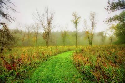 Retzer Nature Center Trail In Utumn Poster by Jennifer Rondinelli Reilly