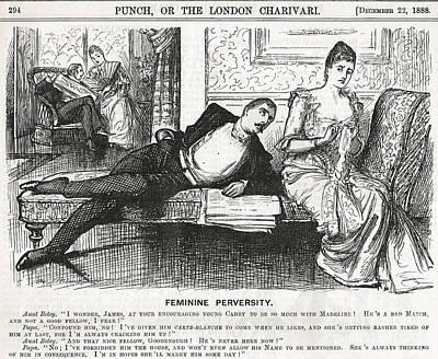 Reverse Psychology Punch Cartoon 1888 Poster by David Carton