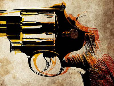 Revolver Trigger Poster by Michael Tompsett