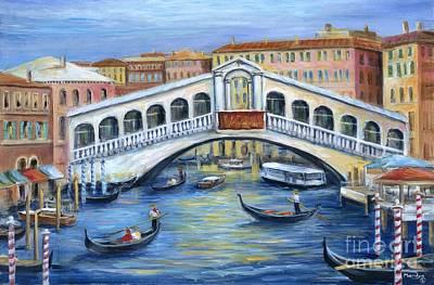 Rialto Bridge Venice Poster by Marilyn Dunlap