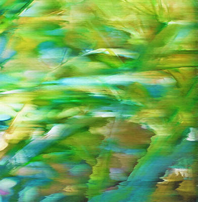 Ribbon Grass - Windswept Abstract Poster by Steve Ohlsen
