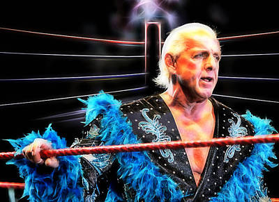 Ric Flair Wrestling Collection Poster by Marvin Blaine