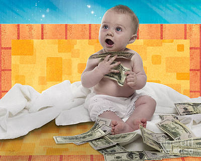 Rich Baby Poster by Bedros Awak