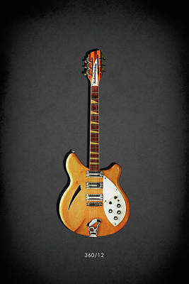 Rickenbacker 360 12 1964 Poster by Mark Rogan