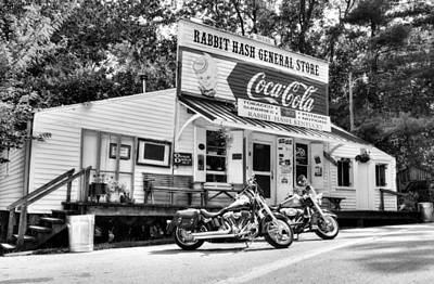 Ride To Rabbit Hash Bw Poster by Tri State Art