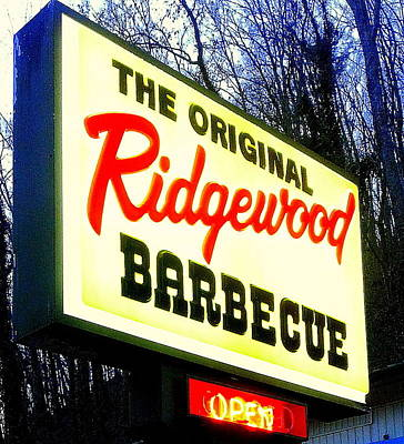 Ridgewood Barbecue Poster by Gail Oliver