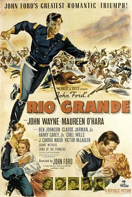 Rio Grande, John Wayne, Claude Jarman Poster by Everett