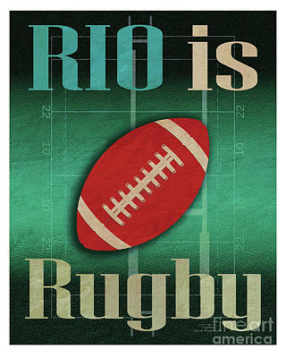 Rio Is Rugby Poster by Joost Hogervorst
