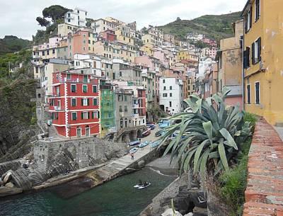 Riomaggiore Cinque Terre Poster by Marilyn Dunlap