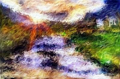 River Sunset - Abstract Impressionist Painting Poster by Katrina Britt