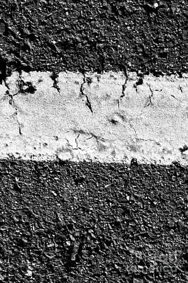Road Line And Pavement Details Poster by Jorgo Photography - Wall Art Gallery