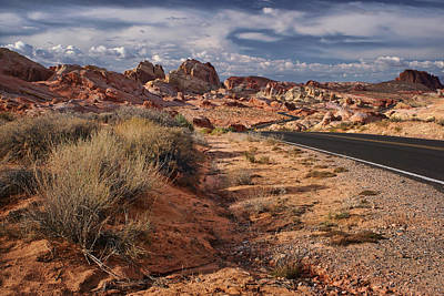Road - Valley Of Fire - Nevada Poster by Nikolyn McDonald