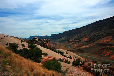Roadway Rock Formations Arches National Park Poster by Corey Ford