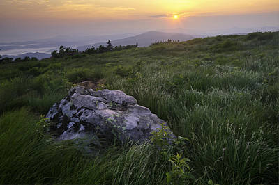 Roan Mountain Highlands Sunrise - Appalachian Trail Scenic Landscape Poster by Rob Travis