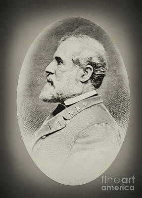 Robert E Lee - Csa Poster by Paul W Faust -  Impressions of Light
