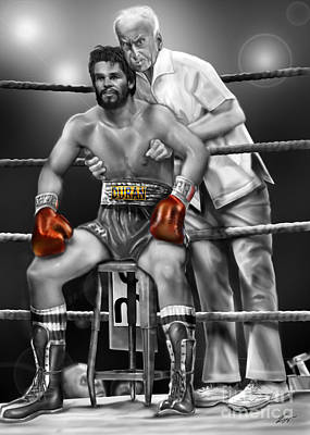 Roberto Red Gloves Of Gray  Poster by Reggie Duffie