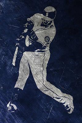 Robinson Cano Seattle Mariners Art Poster by Joe Hamilton