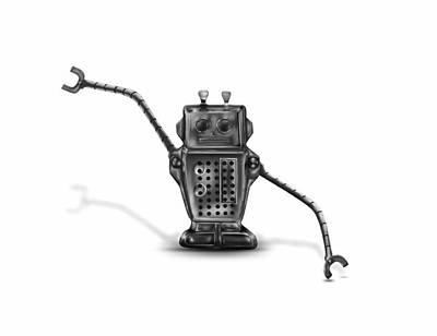 Robot Poster by Cassandra Kassel