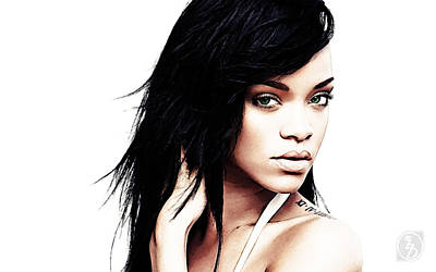 Robyn Rihanna Fenty Poster by The DigArtisT
