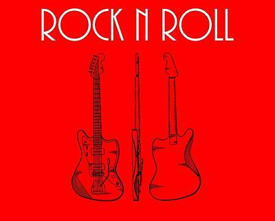 Rock And Roll Poster Poster by Dan Sproul