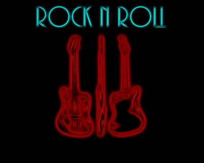 Rock N Roll Electric Poster Poster by Dan Sproul