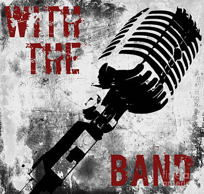 Rock N Roll Microphone  Poster by Mindy Sommers