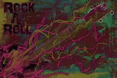 Rock N Roll Poster by Ryan Burton