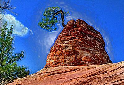 Rock Tree Poster by Martin Massari
