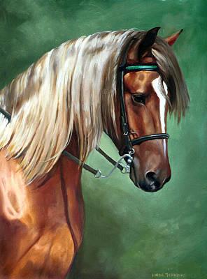 Rocky Mountain Horse Poster by Linda Tenukas