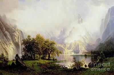 Rocky Mountain Landscape Poster by Albert Bierstadt
