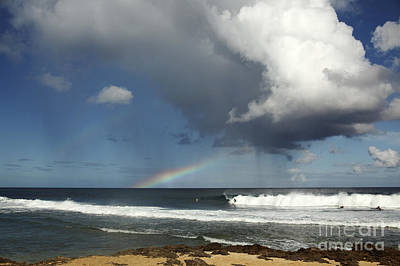 Rocky Point, Rain And Rainbow Poster by Vince Cavataio - Printscapes