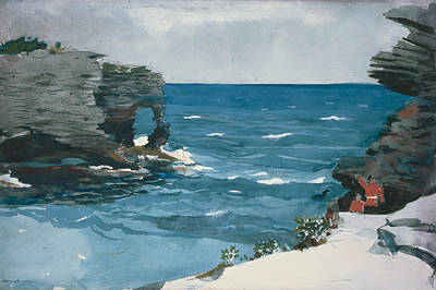 Rocky Shore, Bermuda Poster by Winslow Homer