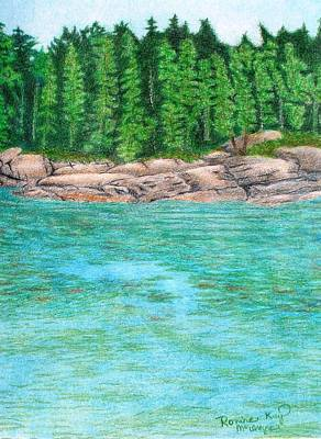 Rocky Shore Poster by Ronine McIntyre
