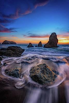 Rodeo Beach Sunset Poster by Rick Berk