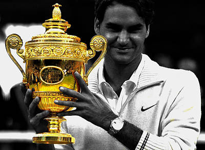 Roger Federer 2a Poster by Brian Reaves
