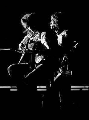 Rolling Stones 1970 Mick And Keith Live Poster by Chris Walter