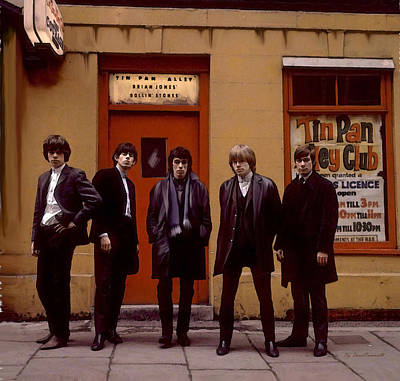 Rolling Stones Tin Pan Alley Brian Jones Poster by Iconic Images Art Gallery David Pucciarelli