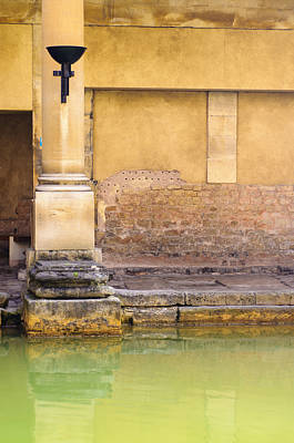 Roman Column At The Spa Poster by Christi Kraft