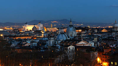 Roman Skyline Poster by Giorgio Lumaconi