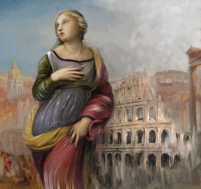 Rome Woman 157 1  Poster by Mawra Tahreem