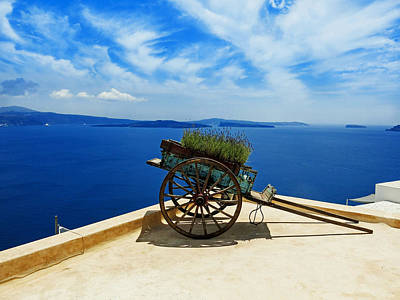 Rooftop Decor - Rhodes Greece Poster by Mountain Dreams