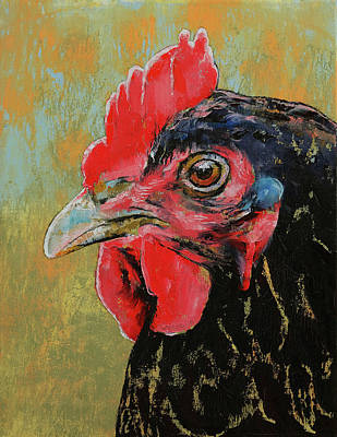 Rooster Poster by Michael Creese