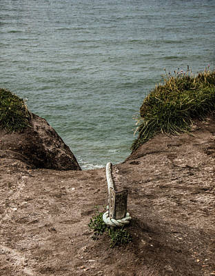Rope Ladder To The Sea Poster by Odd Jeppesen