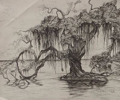 Rope Swing Poster by Sarah Lonthier