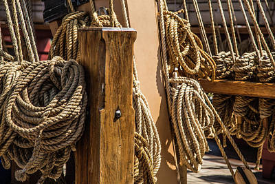 Ropes Aboard A Tall Ship Poster by Dale Kincaid