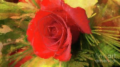 Rose Impression Poster by Geraldine DeBoer