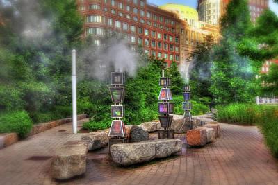 Rose Kennedy Greenway Steam Sculpture Garden - Boston Poster by Joann Vitali