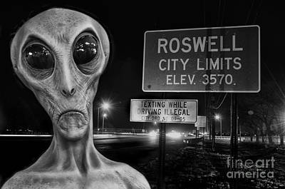 Roswell Grays 4 Poster by Bob Christopher