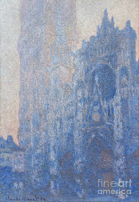 Rouen Cathedral Facade And Tour Albane Poster by Claude Monet
